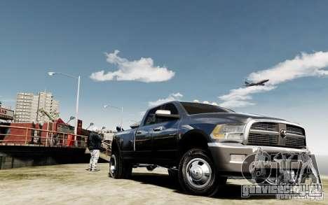 Dodge Ram 3500 Stock Final для GTA 4 вид сзади