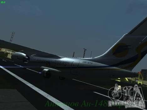 Антонов Ан-148 Aerosvit Ukrainian Airlines для GTA San Andreas вид сзади