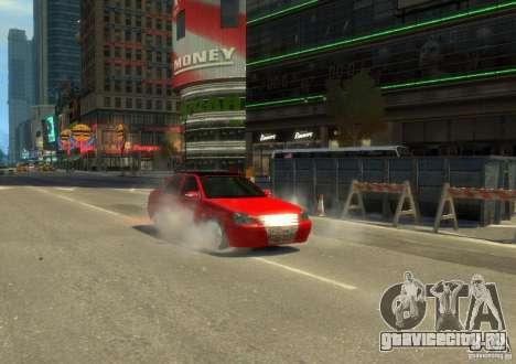 Лада Приора хетчбэк для GTA 4 вид сзади слева
