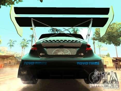 Ford Fiesta Rally Time для GTA San Andreas вид изнутри