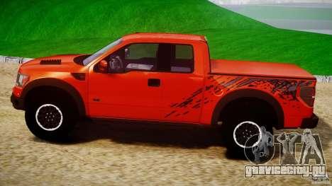 Ford F150 SVT Raptor 2011 для GTA 4 вид слева
