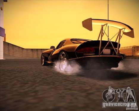 Dodge Viper TT для GTA San Andreas вид сзади слева