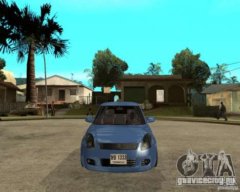 2007 Suzuki Swift для GTA San Andreas вид сзади