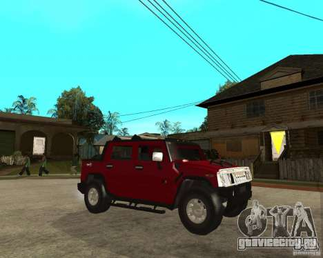 AMG H2 HUMMER SUT для GTA San Andreas вид справа