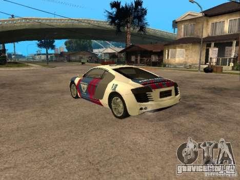 Audi R8 Police Indonesia для GTA San Andreas вид слева