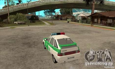 ВАЗ 2112 YPX Police для GTA San Andreas вид сзади слева