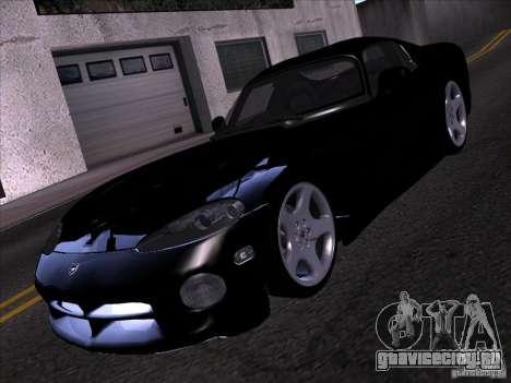 Dodge Viper для GTA San Andreas вид снизу