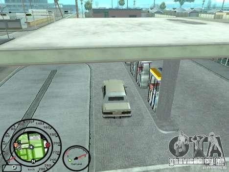 Спидометр с датчиком топлива для GTA San Andreas четвёртый скриншот