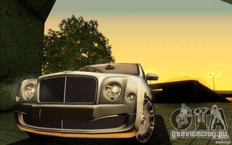 Bentley Mulsanne 2010 v1.0 для GTA San Andreas двигатель