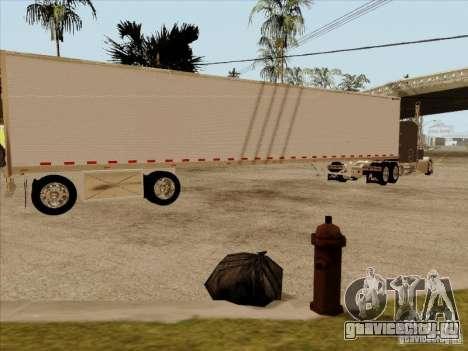 Прицеп к Peterbilt 379 Custom для GTA San Andreas вид сзади слева