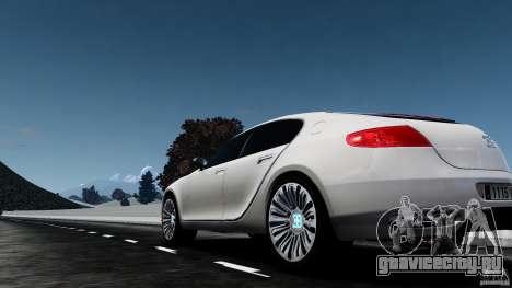 Bugatti Galibier 2009 для GTA 4 вид сзади слева
