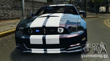Ford Mustang 2013 Police Edition [ELS] для GTA 4 салон