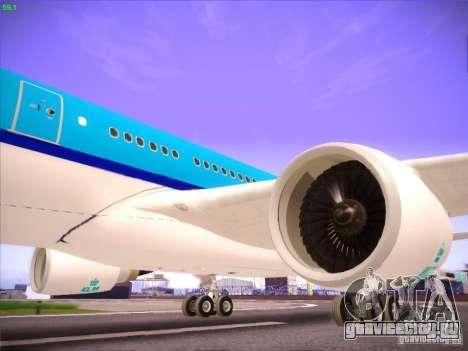 Airbus A330-200 KLM Royal Dutch Airlines для GTA San Andreas вид сбоку
