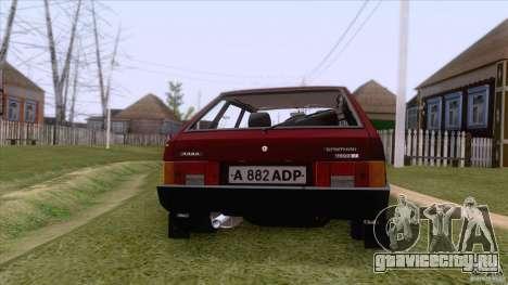 ВАЗ 2109 Сток Final для GTA San Andreas вид сбоку