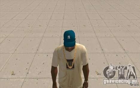 Кепка newyorkyankiys синяя для GTA San Andreas второй скриншот