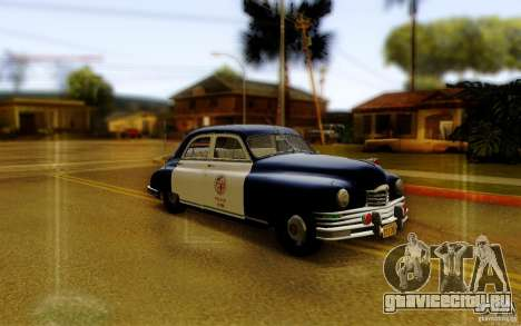Packard Touring Police для GTA San Andreas вид сзади слева
