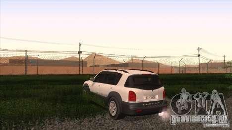 SsangYong Rexton 2005 для GTA San Andreas вид сзади слева