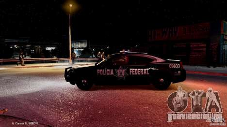 POLICIA FEDERAL MEXICO DODGE CHARGER ELS для GTA 4 вид снизу