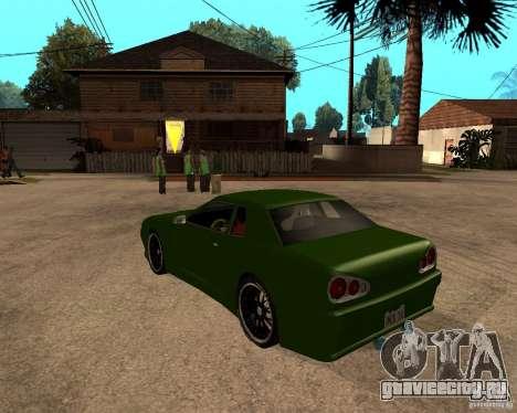 Elegy Green Line для GTA San Andreas вид слева