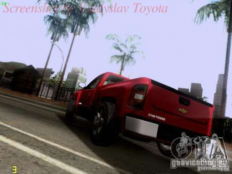 Chevrolet Cheyenne Single Cab для GTA San Andreas вид сзади слева