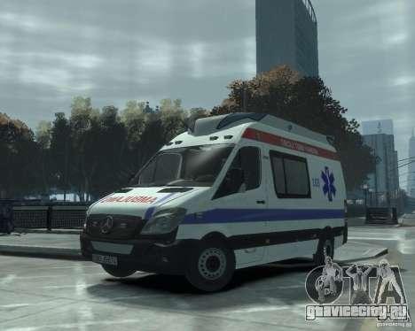 Mercedes-Benz Sprinter Azerbaijan Ambulance v0.1 для GTA 4