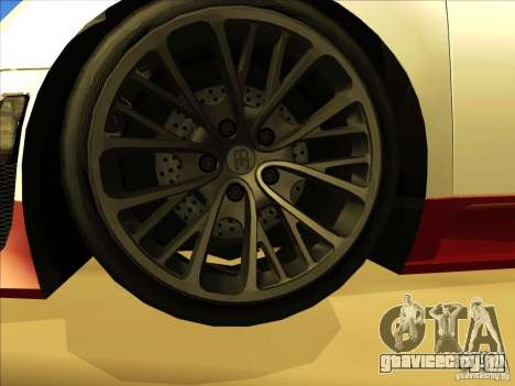 Bugatti Veyron для GTA San Andreas вид сверху