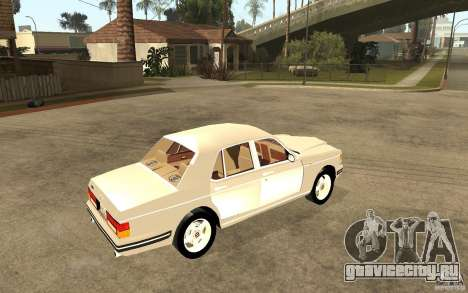 Bentley Turbo RT для GTA San Andreas вид справа