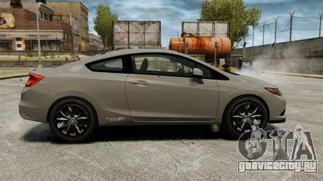 Honda Civic Si Coupe 2012 для GTA 4 вид слева