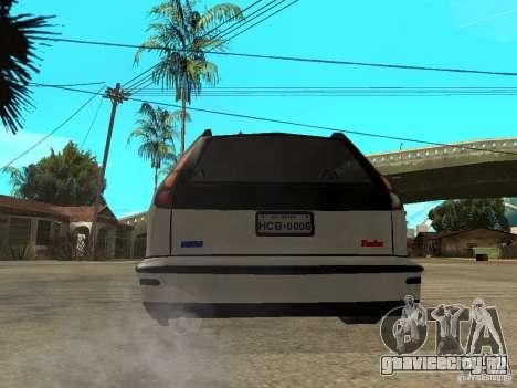 Fiat Marea Weekend для GTA San Andreas вид сзади слева