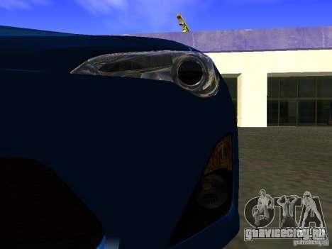 Toyota GT86 Limited для GTA San Andreas вид сверху