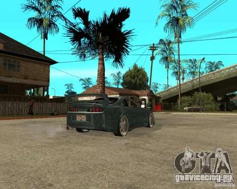 Toyota Supra Veilside для GTA San Andreas вид сзади слева