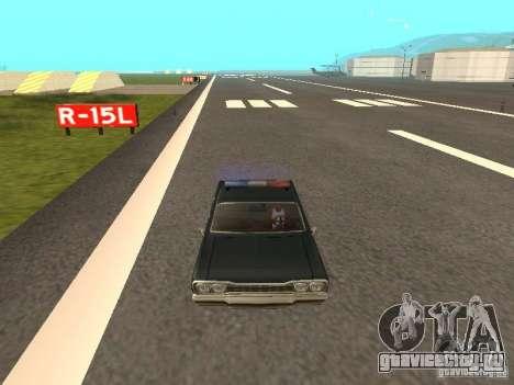 Police Savanna для GTA San Andreas вид справа