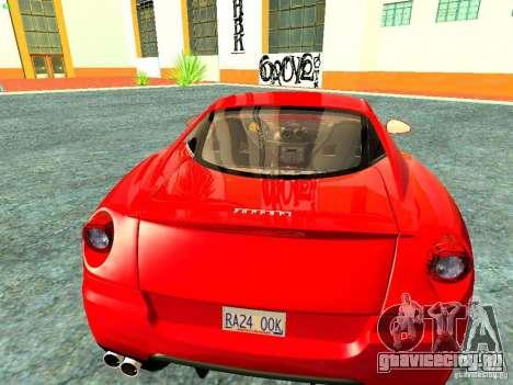 Ferrari 599 GTB для GTA San Andreas вид сзади