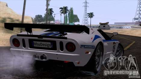Ford GT Matech GT3 Series для GTA San Andreas вид сзади слева