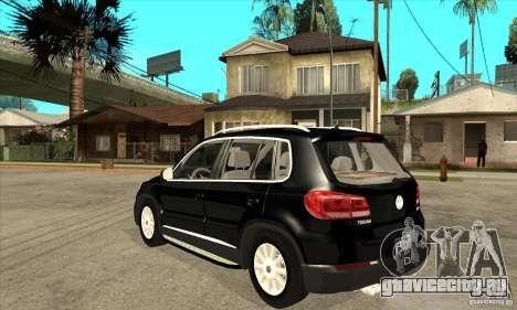 Volkswagen Tiguan 2.0 TDI 2012 для GTA San Andreas вид сзади слева