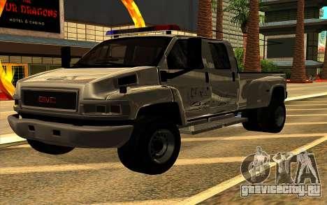 GMC Topkick C4500 для GTA San Andreas салон