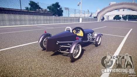 Vintage race car для GTA 4 вид сбоку