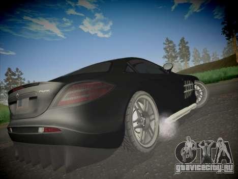 Mercedes-Benz SLR 722 Custom Edition для GTA San Andreas вид сзади слева