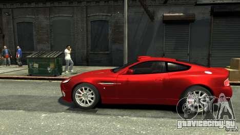 Aston Martin Vanquish S v2.0 с тонировкой для GTA 4 вид слева