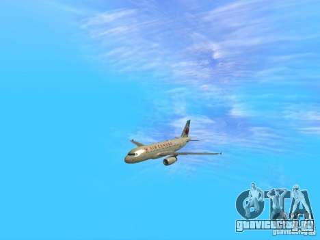 Airbus A319 Air Canada для GTA San Andreas вид сзади