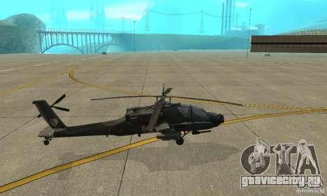 АН-64 Apache для GTA San Andreas вид слева