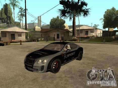 Bentley Continental SS Skin 4 для GTA San Andreas