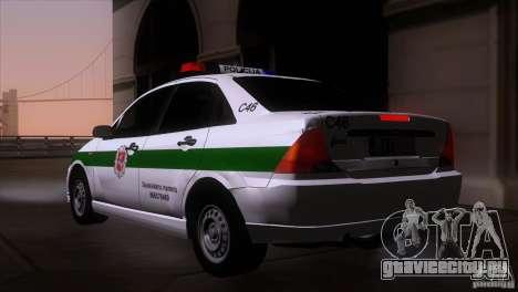 Ford Focus Policija для GTA San Andreas вид слева