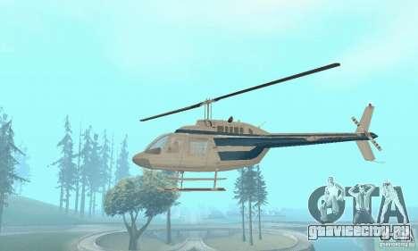 Bell 206B JetRanger II для GTA San Andreas вид изнутри