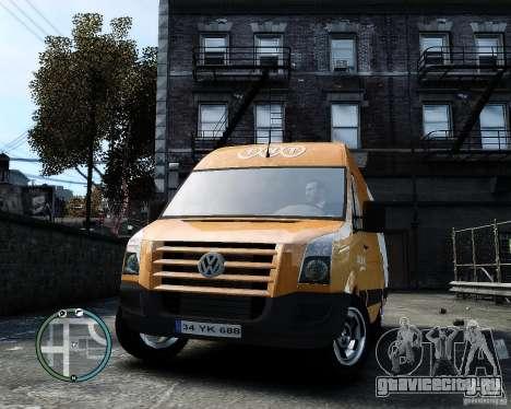 Volkswagen Crafter TNT для GTA 4 вид сзади
