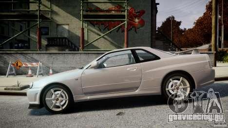 Nissan Skyline GT-R R34 2002 v1 для GTA 4 вид слева