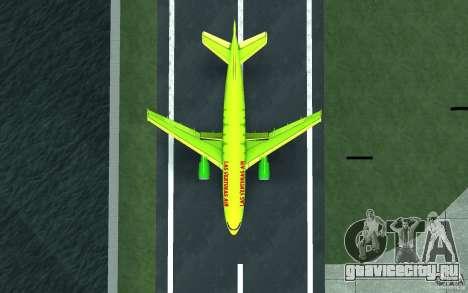 Airbus A310 S7 Airlines для GTA San Andreas вид сзади слева