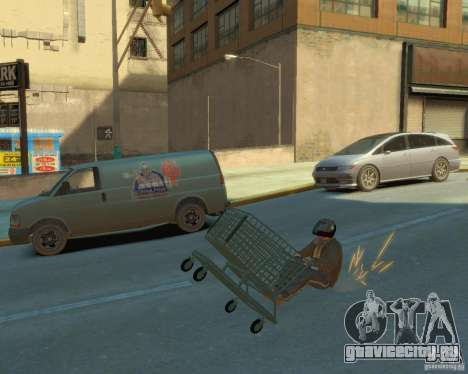 Тележка для GTA 4 вид сзади