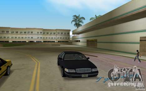 Ford Crown Victoria для GTA Vice City вид сзади