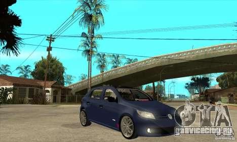 Volkswagen Gol Trend 1.6 для GTA San Andreas вид сзади